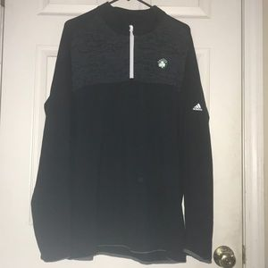 Men's 2XL Black Adidas Boston Celtics 1/4 ZIP
